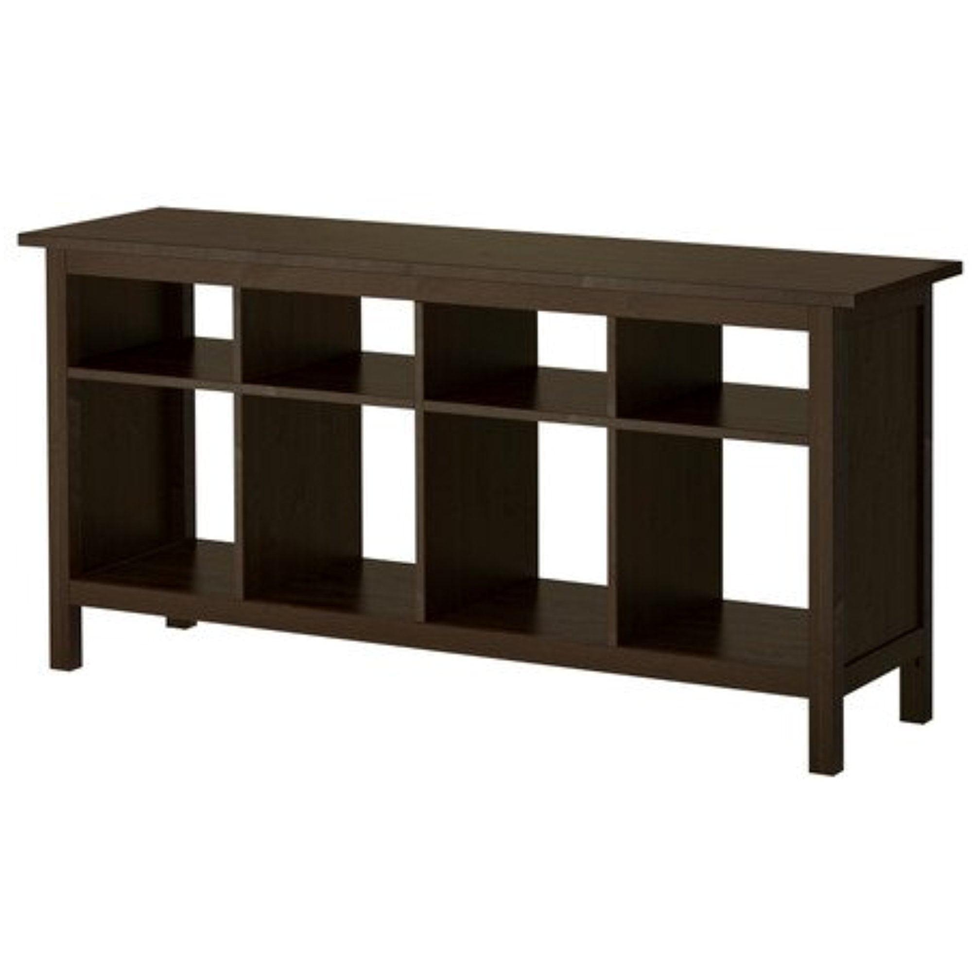 New Ikea Hemnes Sofa Table Black-Brown Solid Wood