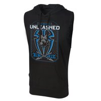 "Official WWE Authentic Roman Reigns ""Big Dog Unleashed"" Lightweight Sleeveless Hoodie Black Small"