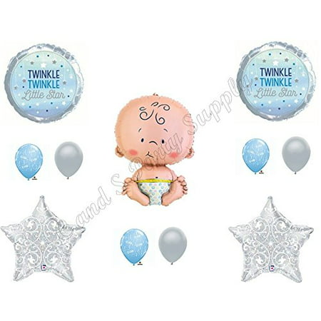 Twinkle Little Star Baby Boy Shower Balloons Decoration Supplies Nursery Rhymes