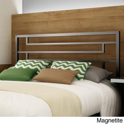 Amisco Temple 54-inch Full-size Metal Headboard Amisco Temple Full-size Headboard in Magnetite