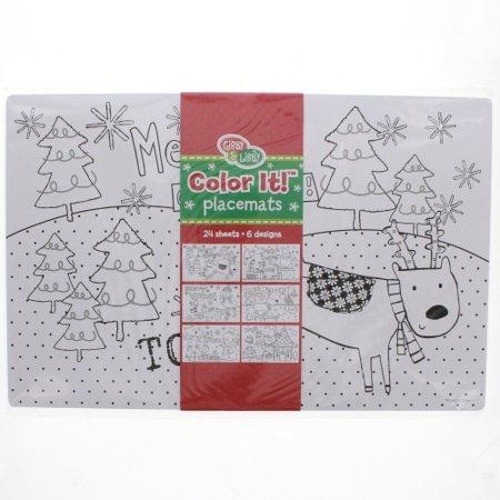 Christmas Coloring Placemats Walmart Com