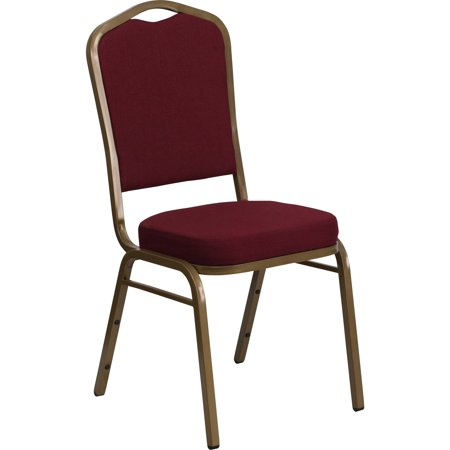 Flash Furniture HERCULES Series Crown Back Stacking Banquet Chair with Fabric and 2.5