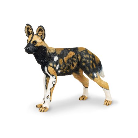 (Wild Safari Wildlife African Wild Dog Safari Ltd Animal Educational Toy Figure)