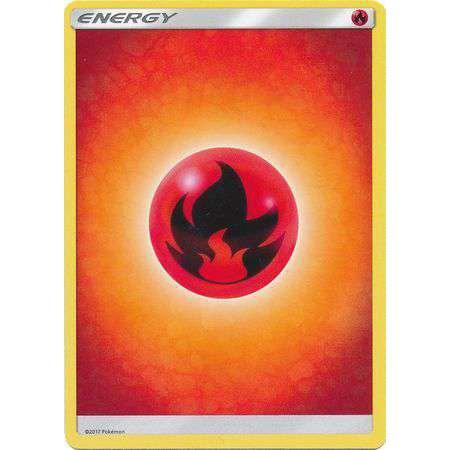 Pokemon Sun & Moon Lot of 10 Fire Energy Single