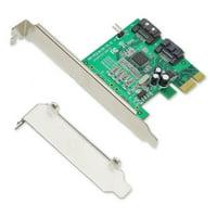 PCIe x1 Interface Version 1.0  2-Port Internal SATA 6Gbps Controller Card  Non-Raid