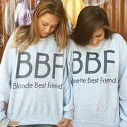 Women Hoodies Brunette Best Friends BBF BFF Blonde Best Friend Print Harajuku Girlfriends Sweatshirt Women Fashion Pullovers