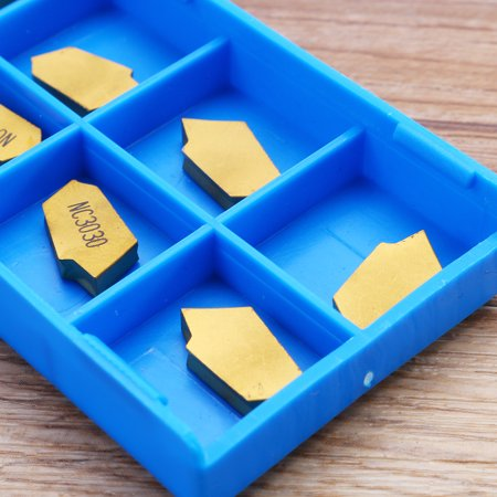 10pcs 3mm GTN3 CNC Parting Off Tips Inserts Carbide Part Off Cutting Tools - image 9 of 9