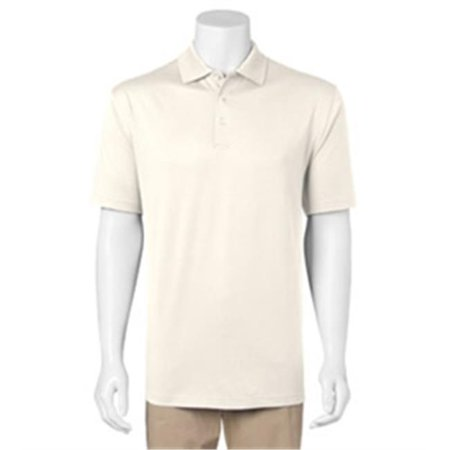 0c22955b2 Izod 13Z0062-Off White-M Mens Pima Cool Performance Jersey Polo, Off White  - Medium