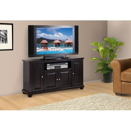 Pilaster Designs – 45″ Wood Console Table TV Stand Entertainment Center – Dark Cherry