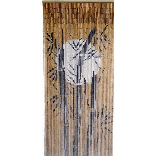 Bamboo54 Bamboo Tree and Moon Single Curtain Panel