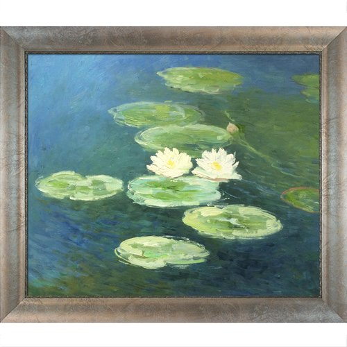 Tori Home Water Lilies, Evening by Claude Monet Framed Painting