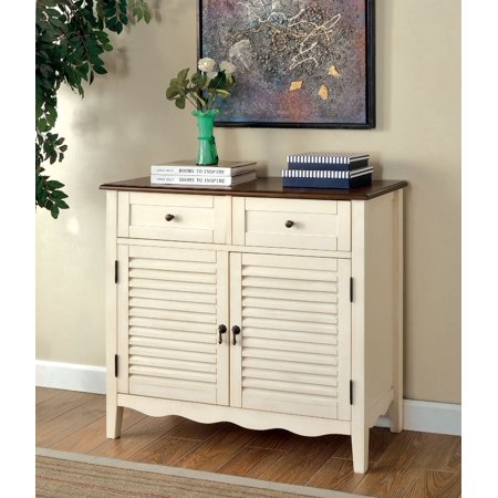 Simple Relax 1perfectchoice Oleida Country Louver Console Table Shoe Storage Cabinet Drawers Shelves White