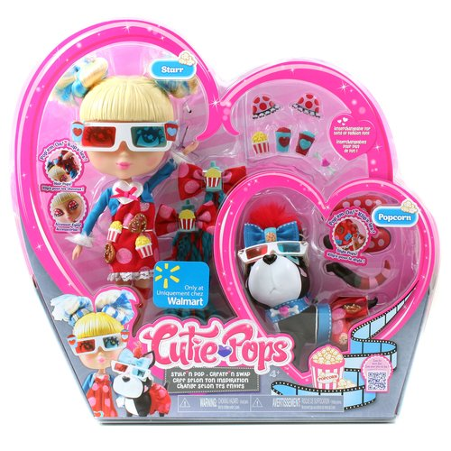 Cutie Pops Movie Night Doll and Pet, Starr and Popcorn