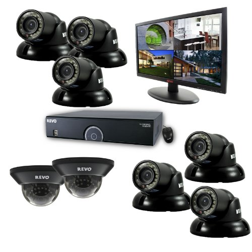 Revo R165D2GT6GM21-2T 16 Channel 2TB 960H DVR Surveillance System with 8 700TVL 100-Feet Night Vision Cameras and 21.5-I