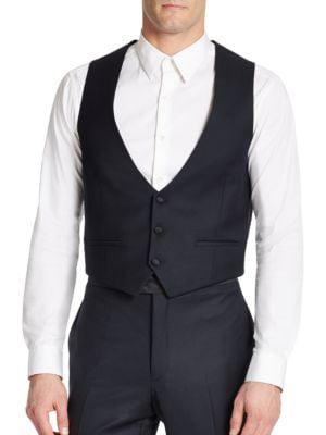 Two-Pocket Wool Vest