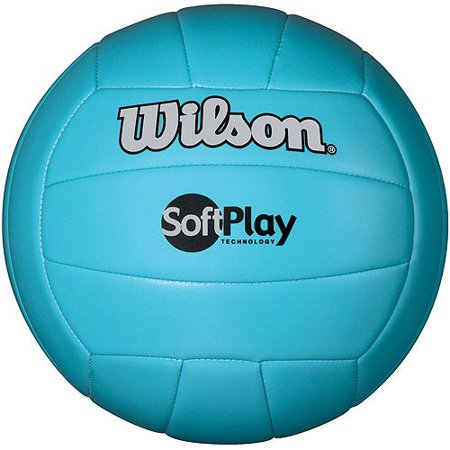 Wilson Official Size and Weight Soft Play Outdoor Volleyball, Blue ()