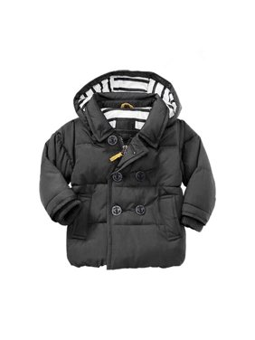 Toddler Baby Black Cotton Jacket Coat