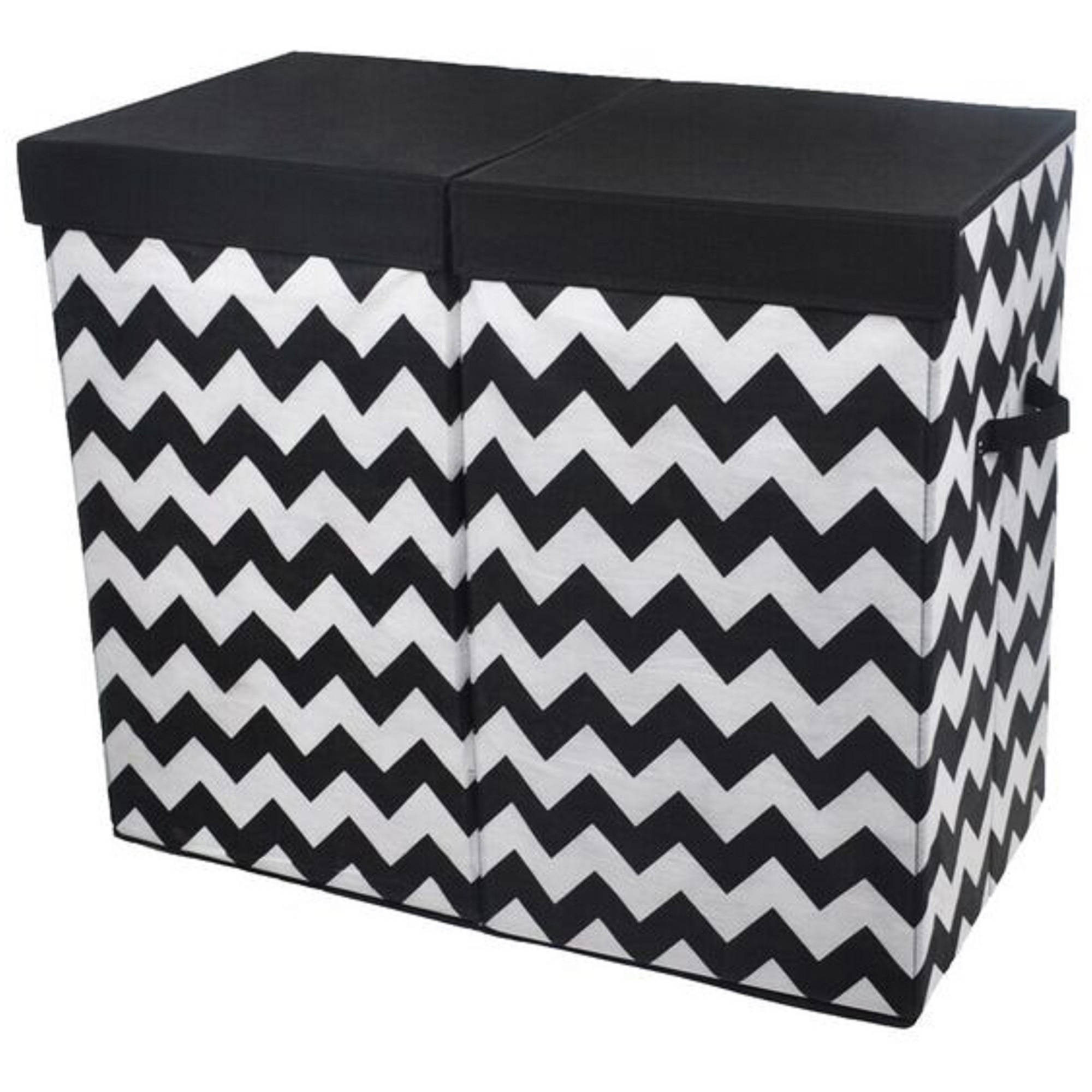 Bold Chevron Folding Double Laundry Bin