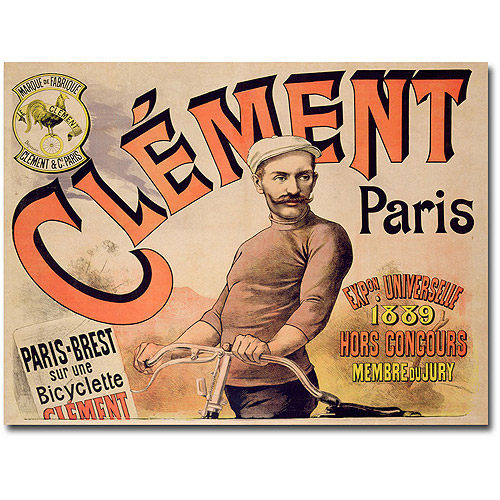 "Trademark Art ""Clement Bicycles, 1889"" Canvas Wall Art"