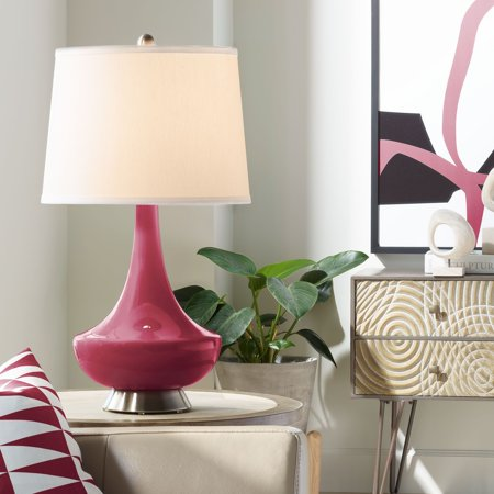 Color + Plus Antique Red Gillan Glass Table Lamp