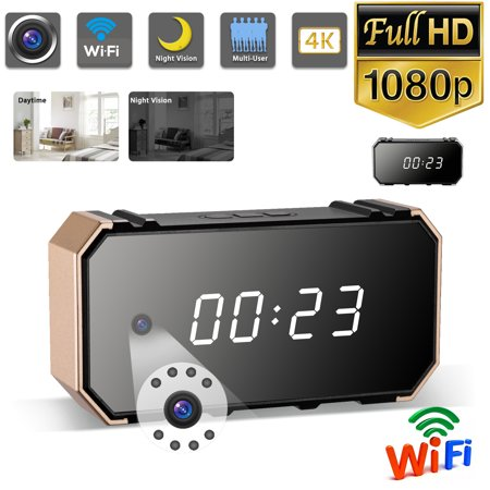 EEEKit 1080P Clock Camera Wireless Cam Nanny Cam IP Surveillance WiFi Camera for Home Security Monitor HD 1080p Strong Night Vision Motion Detection Video Recorder Remote View via iPhone Android (Best Remote Camera App Android)