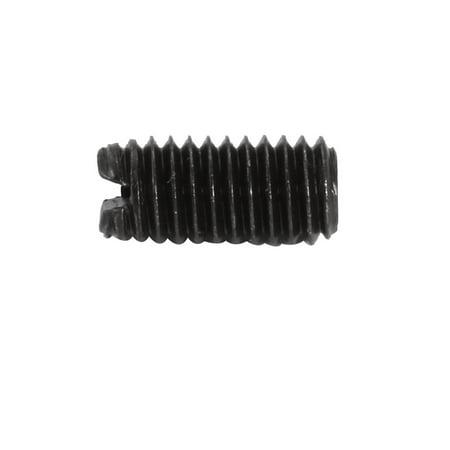 Tasharina 200 Pcs M5x10mm Carbon Steel Slotted Drive Flat Point Grub Screw - image 2 de 3