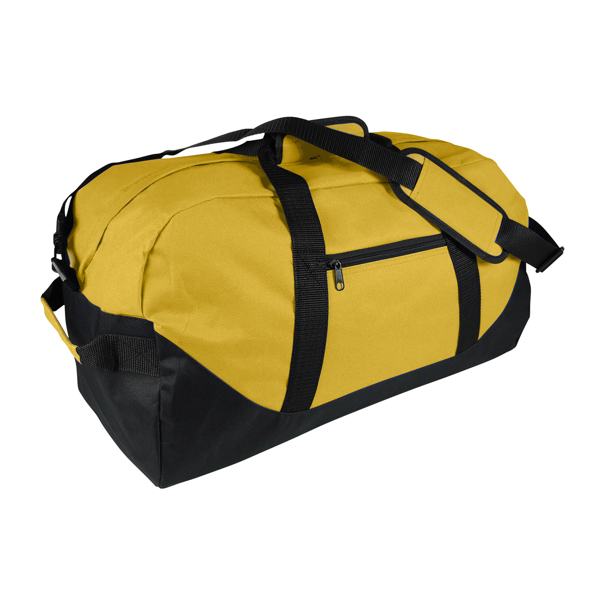 21 Large Duffle Bag with Adjustable Strap in Black