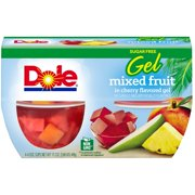 Dole Mixed Fruit In Cherry Gel, 4.3 Oz, 4 Count Box