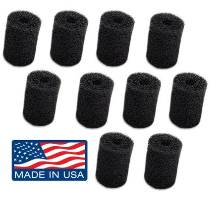 10-Pack Polaris Tail Scrubber Replacement for Vac-Sweep Pool Cleaner Hose Tail - Fits 180, 280, 360, 380, 480, 3900 Sport - MADE IN THE USA ()