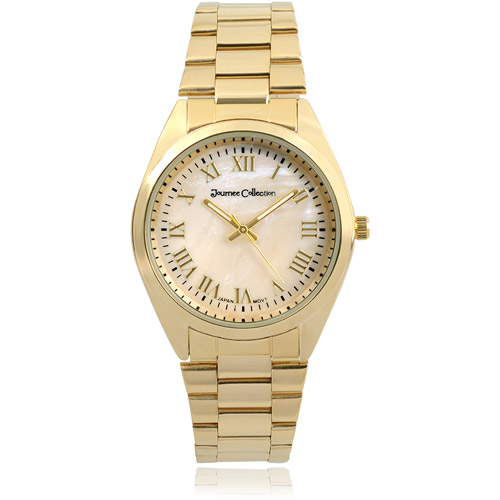 Journee Collection Women's Round Face Link Fashion Watch