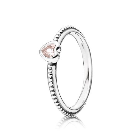One Love, Rose-Pink Synthetic Sapphire Ring sz 52 190896SLP-52