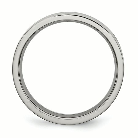 Titanium Flat 5mm Wedding Ring Band Size 7.50 Classic Fashion Jewelry Gifts For Women For Her - image 1 of 10