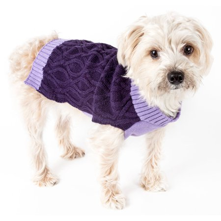 Oval Weaved Heavy Knitted Fashion Designer Dog Sweater - Heavy Knit Sweater