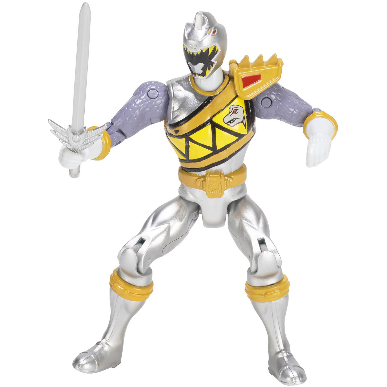 Power Rangers Dino Super Charge Silver Ranger Action Hero