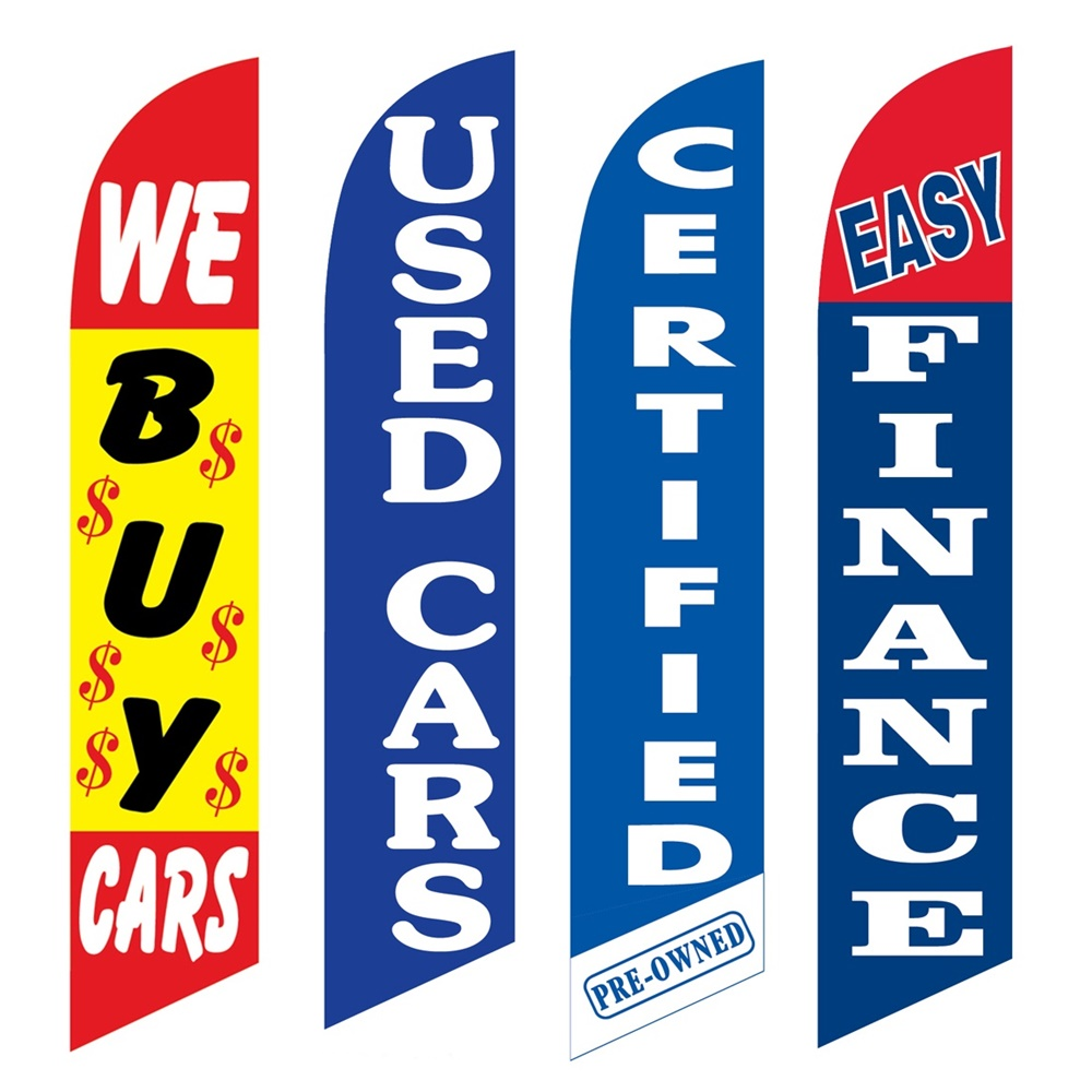 4 Advertising Swooper Flags We Buy Cars Used Cars Certified Pre Owned Easy Finance