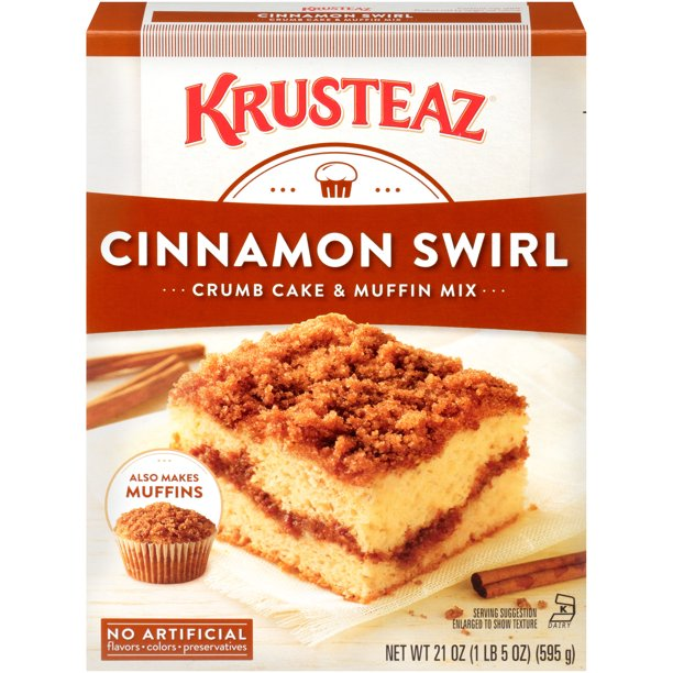 Krusteaz® Cinnamon Swirl Crumb Cake & Muffin Mix 21 oz. Box