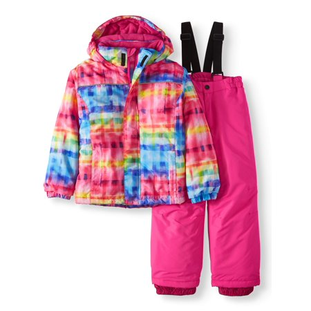 Insulated Jacket And Snow Bib, 2-Piece Set (Little Girls)