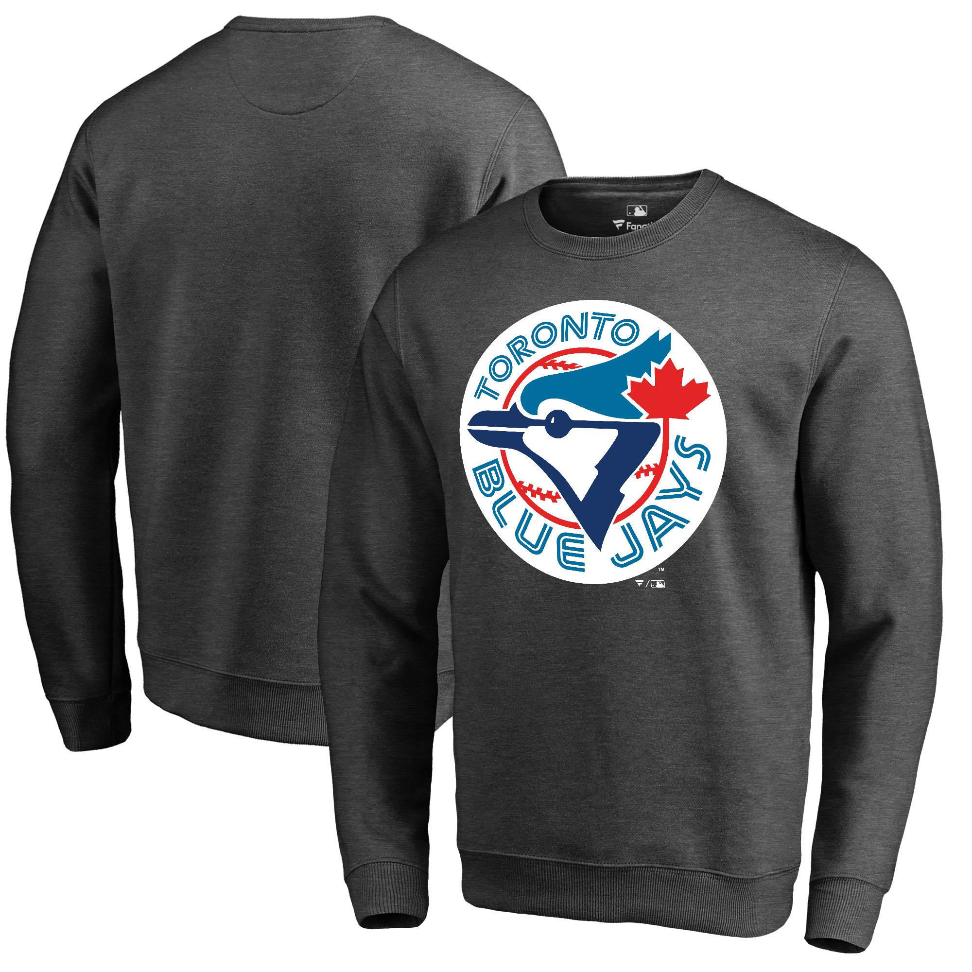 Toronto Blue Jays Fanatics Branded Cooperstown Collection Huntington Sweatshirt - Heathered Gray