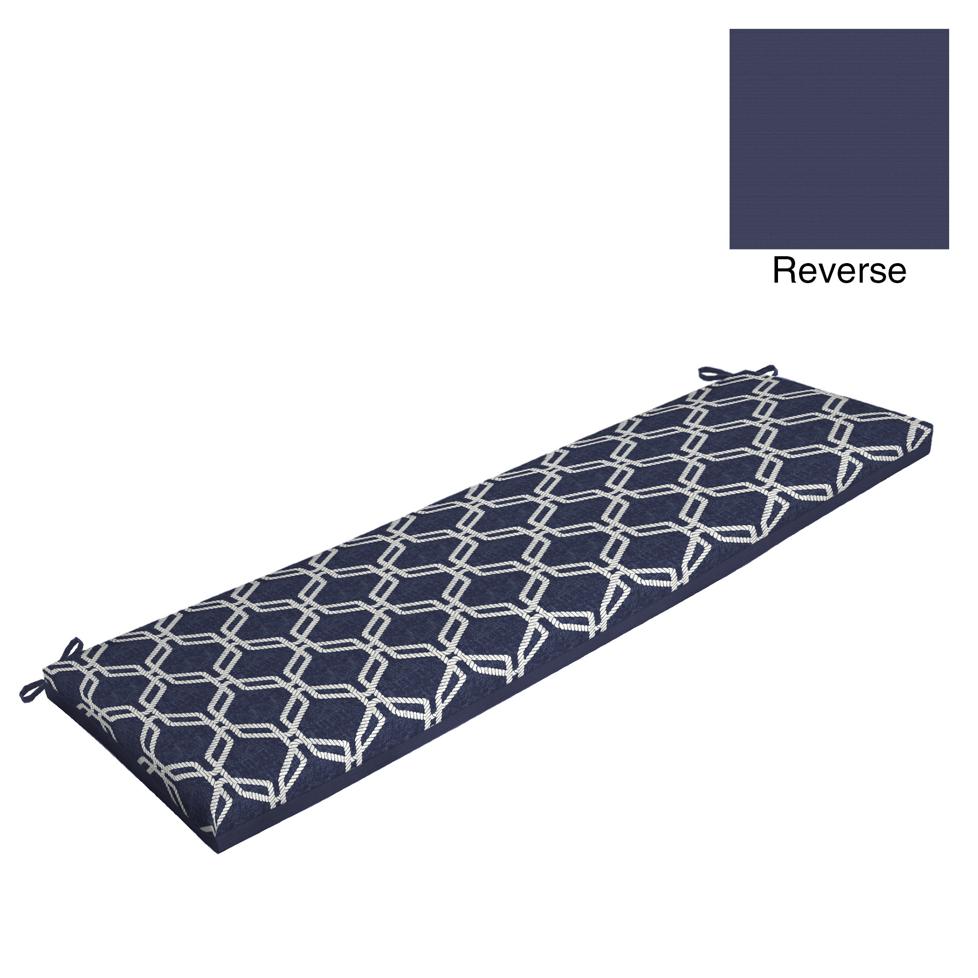 Better Homes & Gardens Hexagon Rope 17 x 46 in. Outdoor Bench Cushion with EnviroGuard