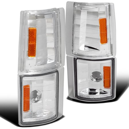 00 Gmc Light Truck Pickup (Spec-D Tuning 1994-1998 Gmc C10 Pickup Truck Corner Lights 4Pcs 1994 1995 1996 1997 1998 (Left +)