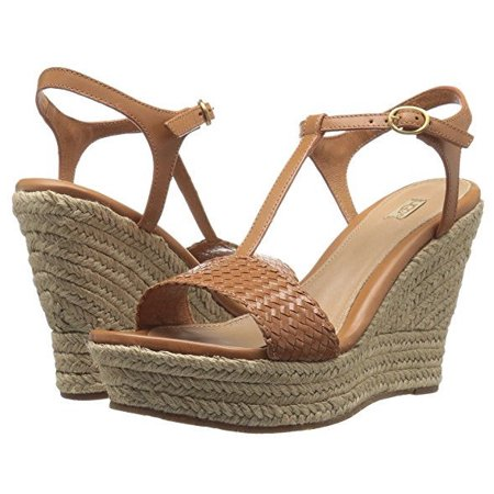 Brown Espadrille - UGG Womens Fitchie II Wedge Sandal Jute Espadrille Chestnut Brown Size 10 M US