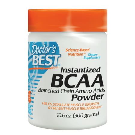 Doctor's Best Instantized BCAA Powder, Non-GMO, Gluten Free, 300