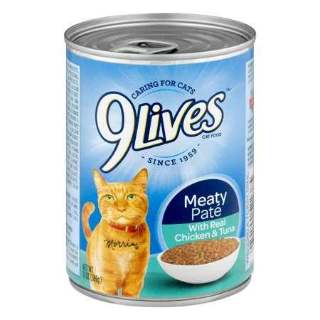 9Lives Cat Food Meaty Pate, 13.0 OZ