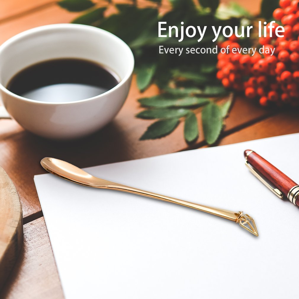 Innovative Portable Stainless Steel Fork/Spoon with Beautiful Pendant Lovely Long Handle Fork/Spoon for Coffee Fruit Dinner