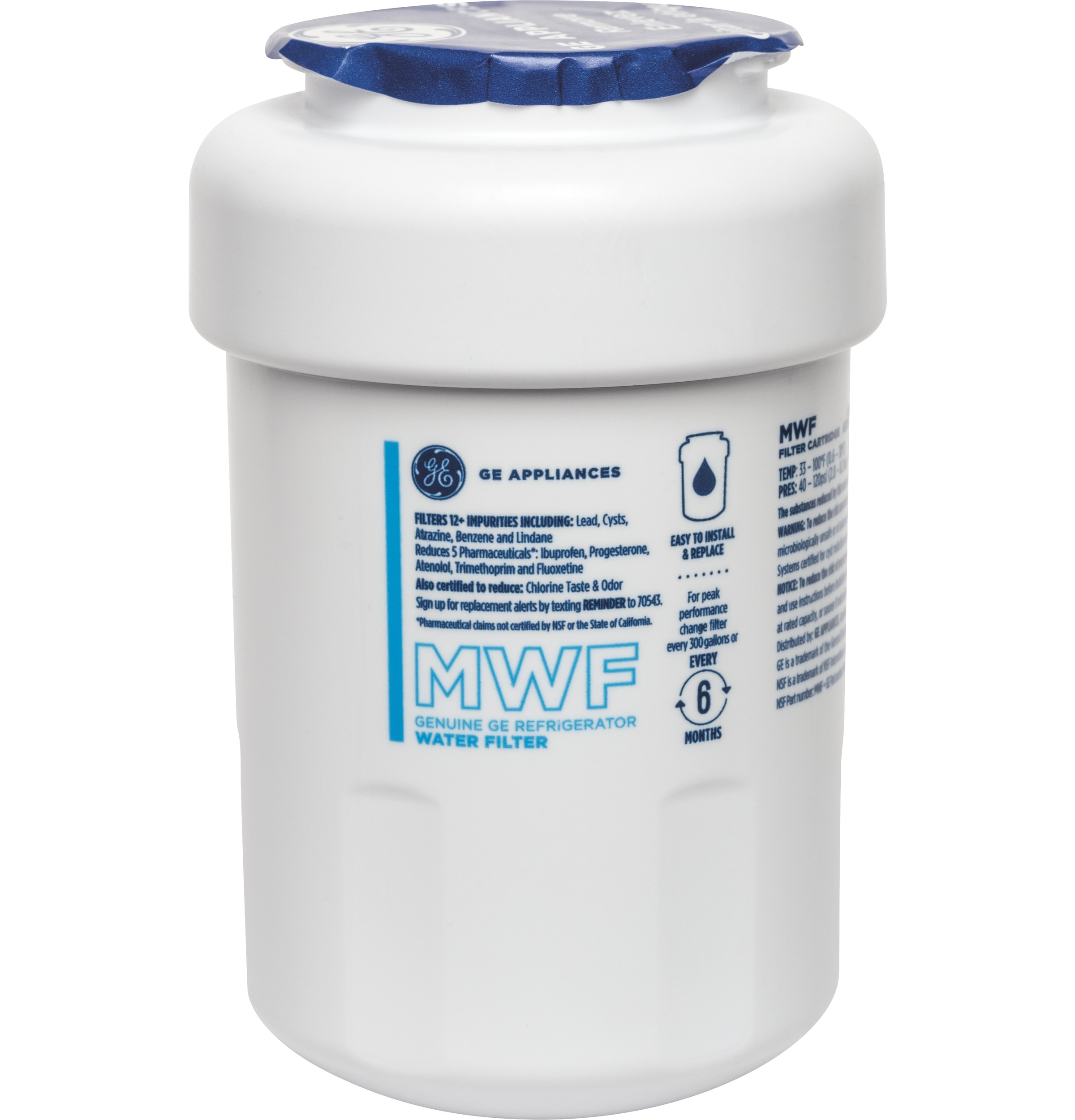 GE MWF Replacement Refrigerator Water Filter Cartridge #MWF