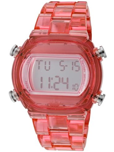 Adidas ADH6504 Candy Pink Plastic Bracelet with 44mm Digital Watch New In Box by Adidas