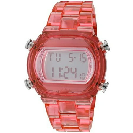 Adidas ADH6504 Candy Pink Plastic Bracelet with 44mm Digital Watch New In (Adidas Candy Collection)