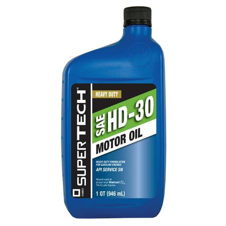 Supertech hd30 motor oil 1 quart for What is hd 30 motor oil
