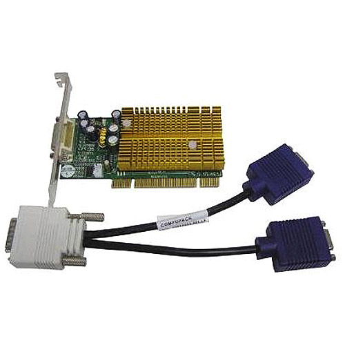 nvidia geforce 6200/low profile support dual vgas/ pci / 256mb ddr