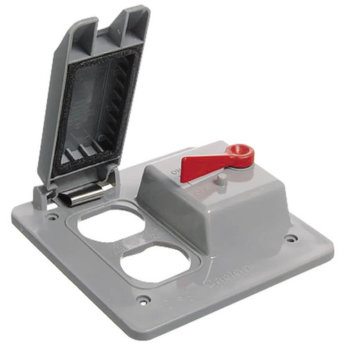 Thomas & Betts/Carlon 2-Gang Toggle Duplex Cover